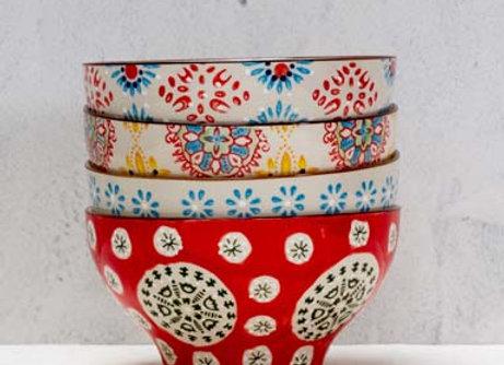 ciotle ceramica set 4 pz.