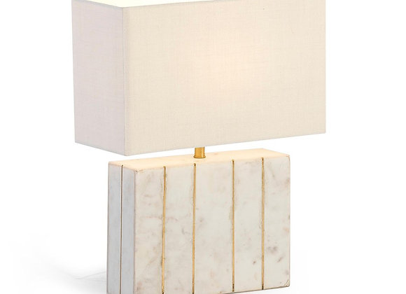 Lampada in marmo e ottone