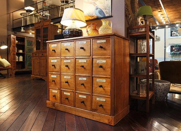 Cassettiera antica 16 cassetti