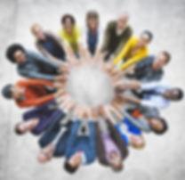 Multi-Ethnic Diverse Group People Circle