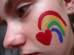 Heart+Rainbow+Face+Painting
