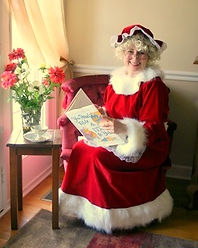 Mrs Claus reading