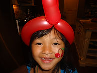 Ballon animals and face painting