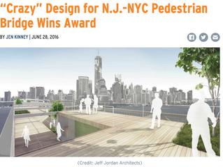 "Nextcity.org - ""Crazy"" Design for N.J.-NYC Pedestrian Bridge Wins Award"