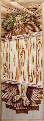 Дверь панно с коробкой, Липа, Ширина/Высота: 700*1900 мм