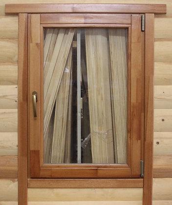 Оконный блок деревянный, двухкамерный стеклопакет