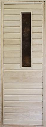 Дверь со стеклом с коробкой, Осина, Сорт А