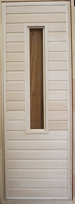 Дверь со стеклом, с коробкой, Липа, Ширина/Высота: 700*1900 мм