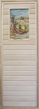 Дверь панно с коробкой, Липа, Ширина/Высота:700*1900 мм