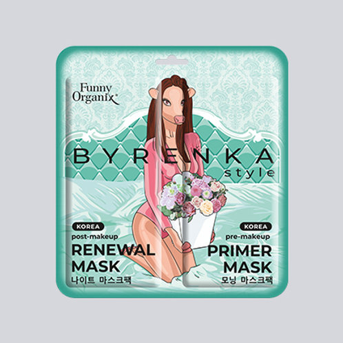 Утренняя маска-праймер PRE-MAKEUP & Вечерняя маска-обновление POST-MAKEUP