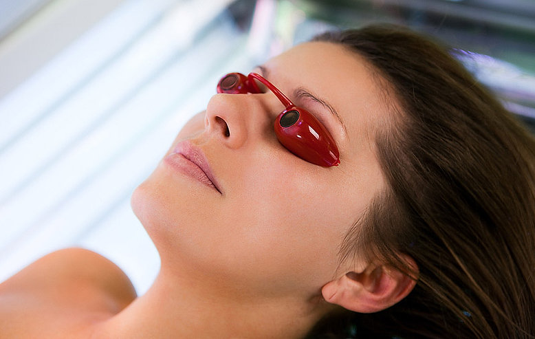indoor tanning eyewear