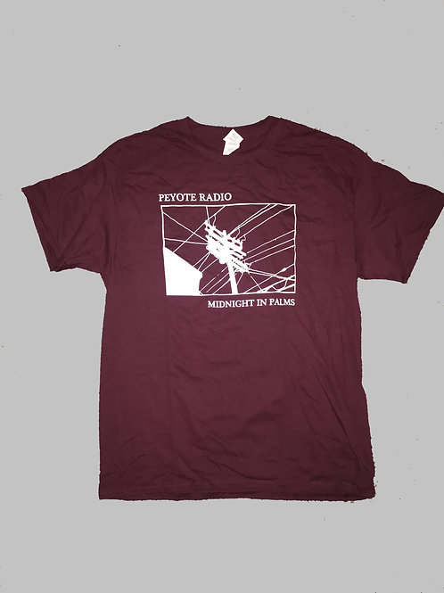 Midnight In Palms - Shirt (Burgundy)