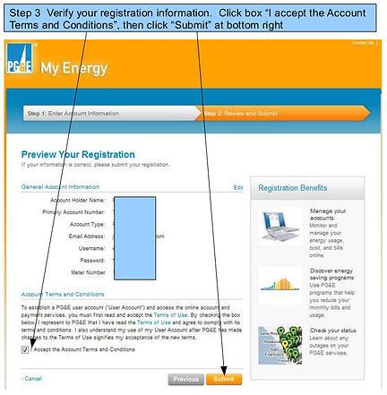 PG&E My Energy Usage Registration