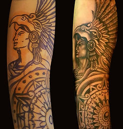 Indian Tribal Portrait Tattoo