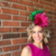 Teal and pink Kentucky Derby Fascinator cocktail hat