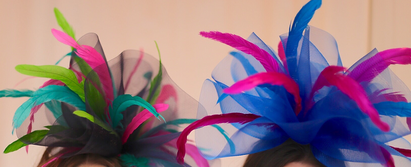 Blue and pink Kentucky Derby Fascinator