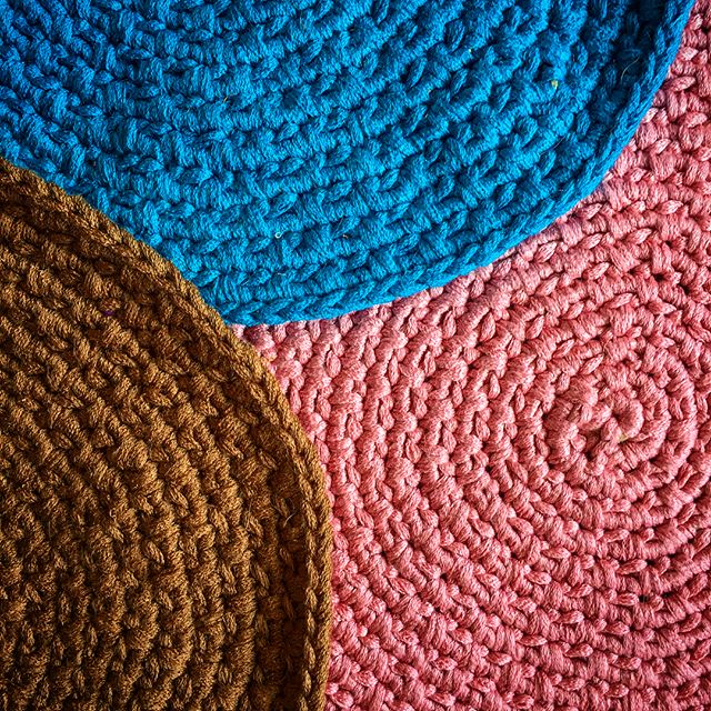 Crocheted rugs now on Etsy
