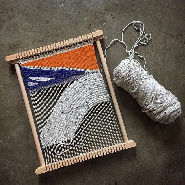Combining crochet to weaving and..