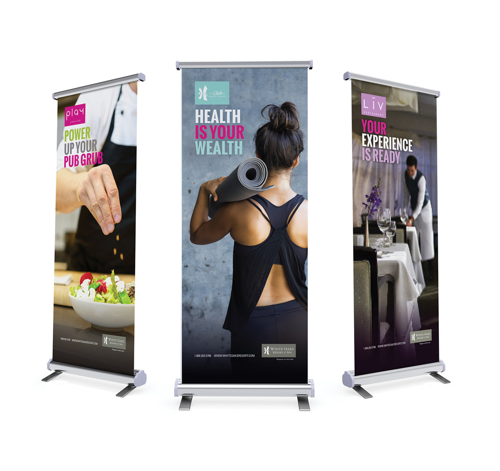 White Oaks Pop-up Tradeshow Banners