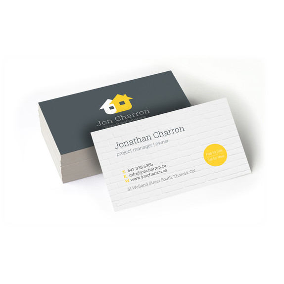 Jon Charron Home Transformations - Double-sided Business Card
