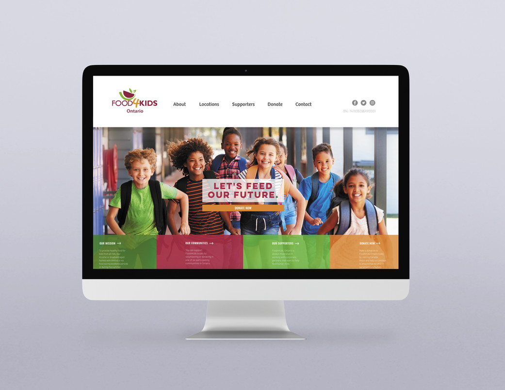 Food4Kids Ontario - Website Redesign