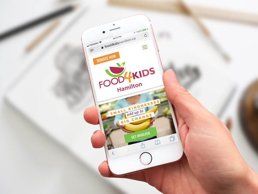 Food4Kids Hamilton - Website Design (WIX)
