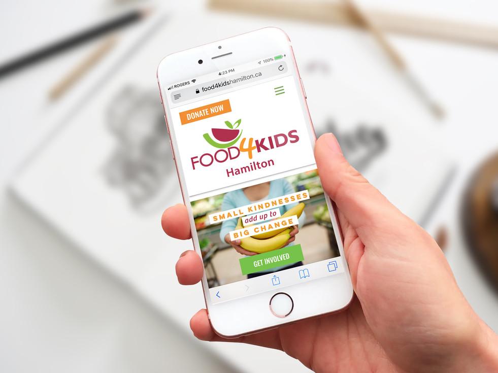 Food4Kids Hamilton - Website Design (WIX)