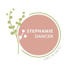 Stephanie Dancer   OMP, M.OM.Sc   Logo Design