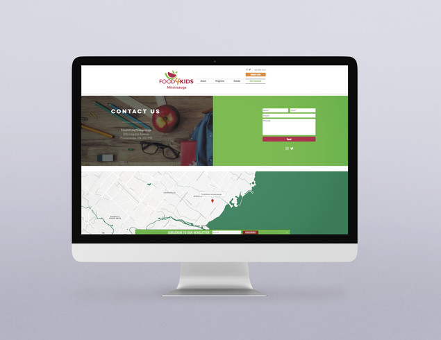 Food4Kids Mississauga - Website Design (WIX)