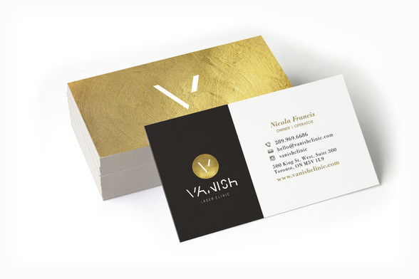 Vanish Laser Clinic - Double Sided Business Card