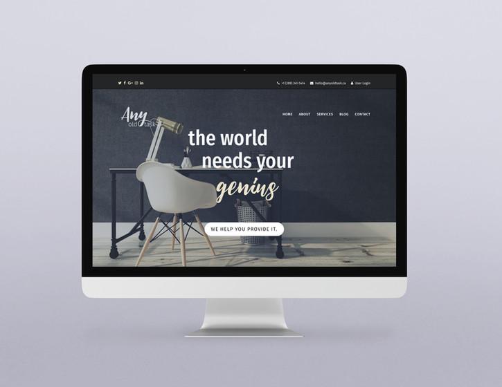 Any Old Task - Website Art Direction & Copywriting