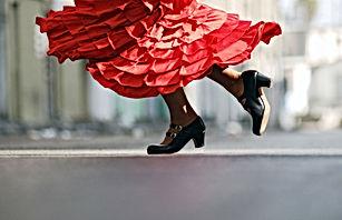 Vestido Vermelho Flamenco
