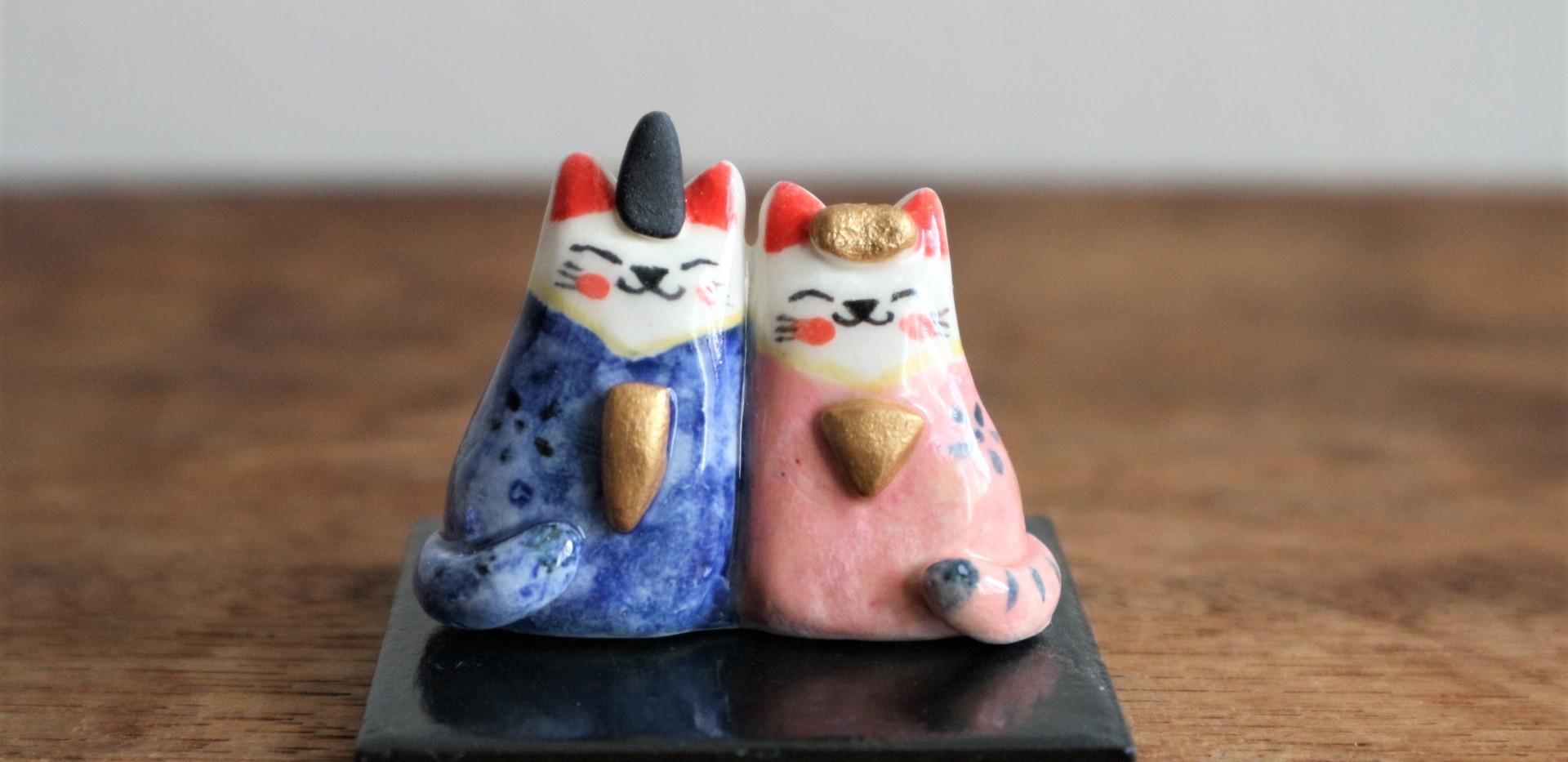 小さな夫婦雛 ( A )