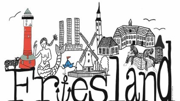 Postkarte Friesland Skyline