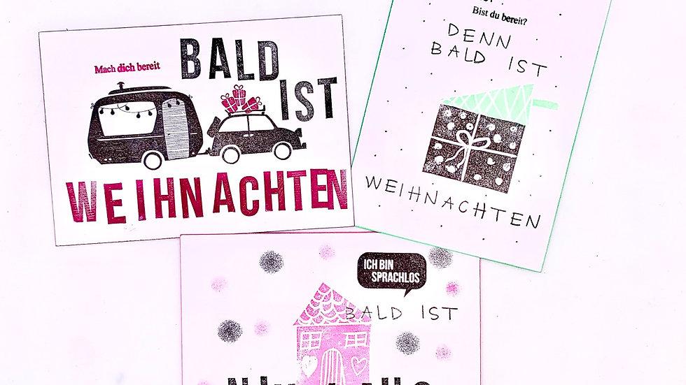 Postkarte Weihnachten verschiedene Designs zur Auswahl