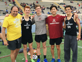 Boys 4x800 sets school record & Marist Results