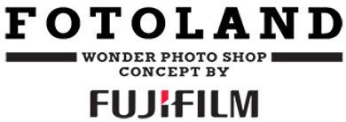 Logo firmy Fotoland która należy do sieci Wonder Photo Shop FujiFilm.