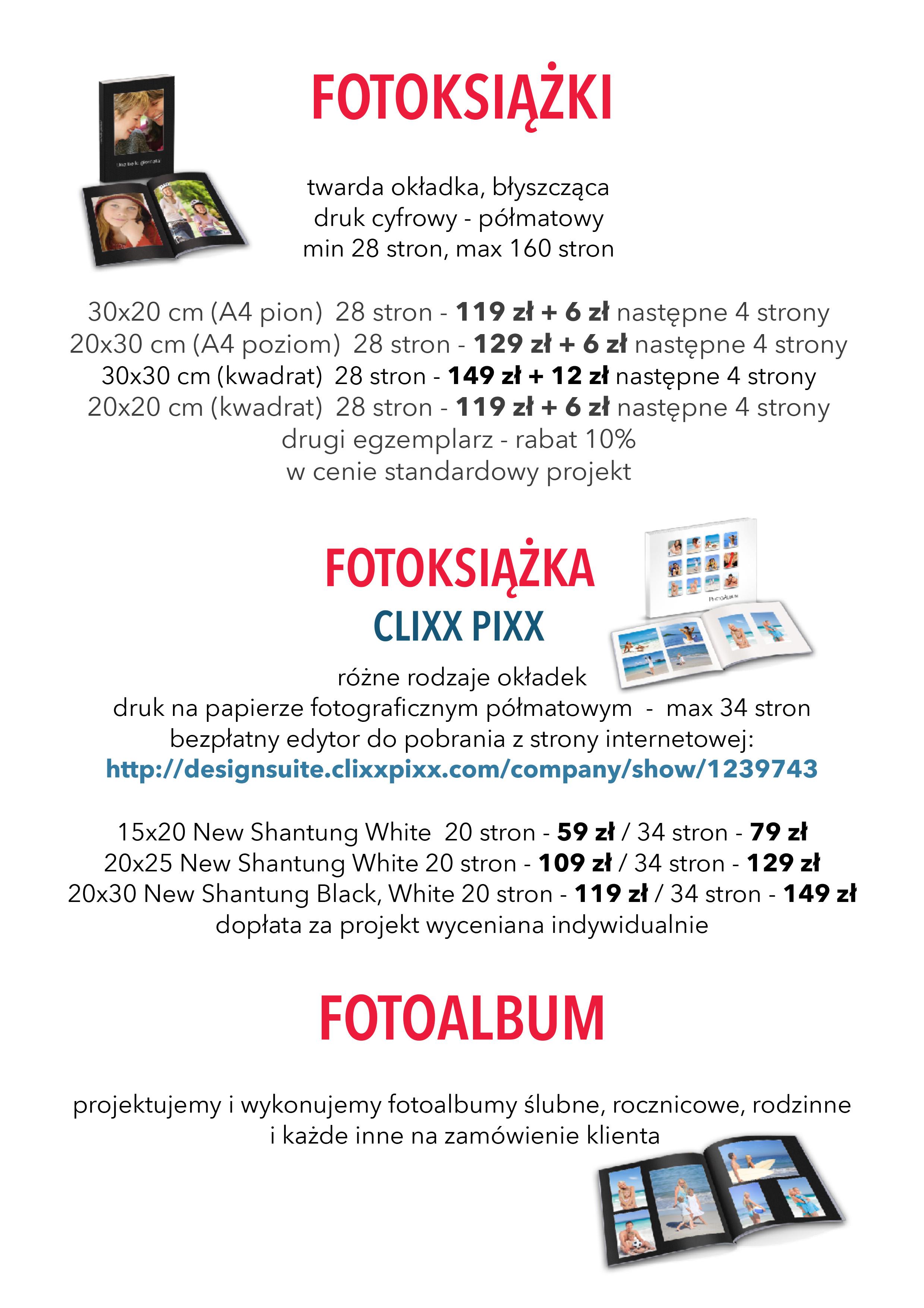 WPS Fotoland-cennik fotoksiążki