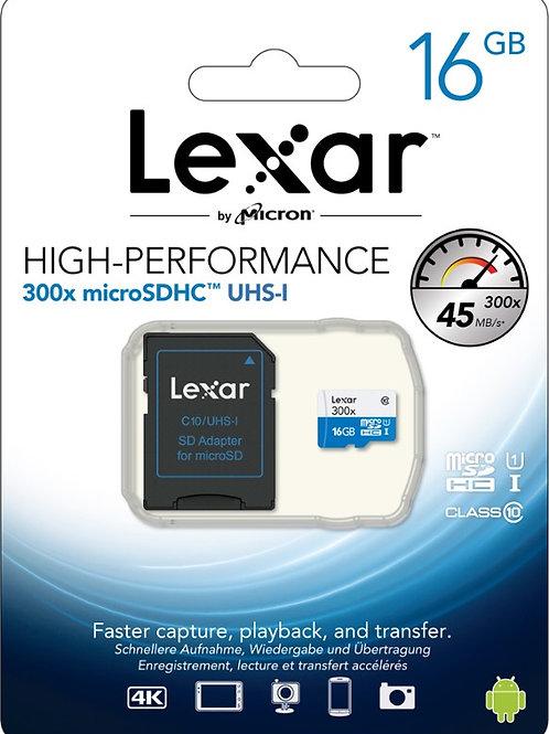 Lexar mSD 16GB x300 microSDHC