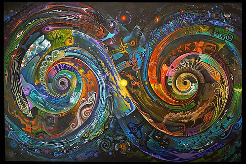 Spiral Matrix - canvas24x36