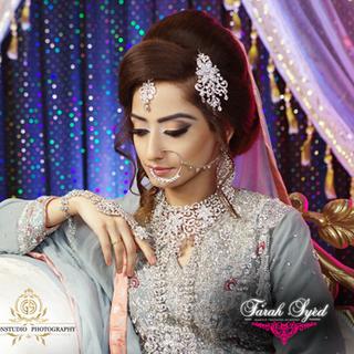 Fresh dewy asian bridal makeup look