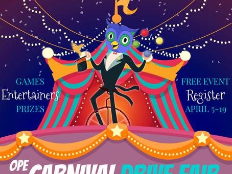 Carnival Drive Fair - April 23rd!