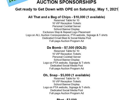 Sponsor the Auction - Deadline - March 1st!