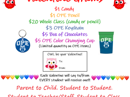Purchase Valentine Grams February 1st-7th!