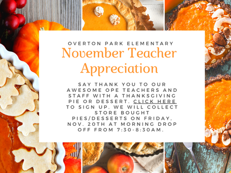 November Teacher Appreciation