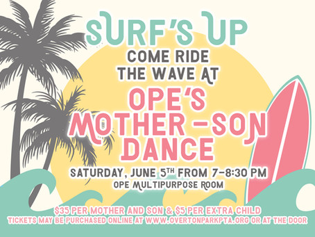 Surfs Up! Mother-Son Dance