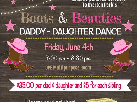 Boots & Beauties! Daddy-Daughter Dance