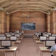 Visualización interior de Aula de Usos Multiples BAI Ixtaltepec