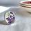 Thumbnail: Davison and Sons 'Violet pattern' vintage china ring