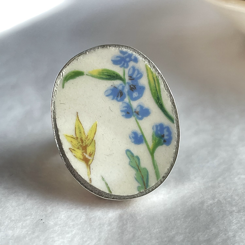 Johnson Brothers 'Wildflower and Butterfly' vintage china ring